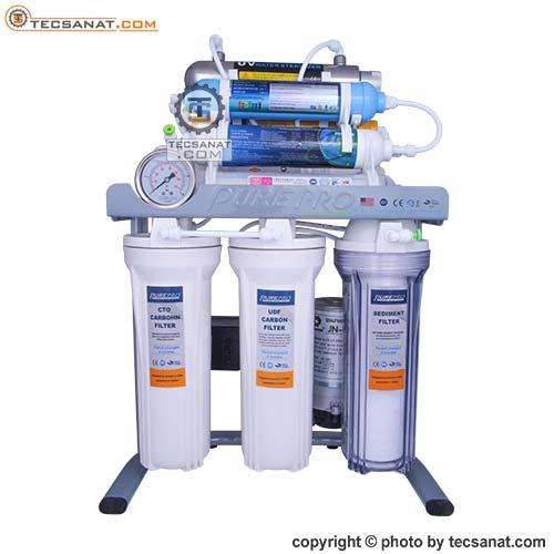 تصفیه آب خانگی PURE PRO مدل RO سری 9 مرحله با فیلتر UV