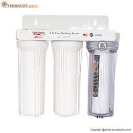هوزینگ سه مرحله 10 اینچ ورودی 1 اینچ سافت واتر Soft Water