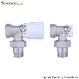 شیر و زانو قفلی 1/2 اینچ رادیاتور پینتوسی PINTOSSI